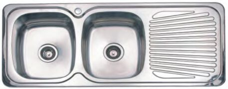 2732-Veronar-Matrix-Left-Hand-Double-Bowl-Single-Drain-Sink