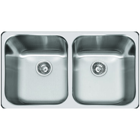 Veronar Forge Undermount Double Bowl Satin Stainless Steel Sink Dst Svf210sink Sss