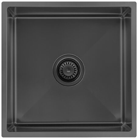 Veronar Sniper 440 Single Bowl Black Stainless Steel Sink Dst Vss440 Blss